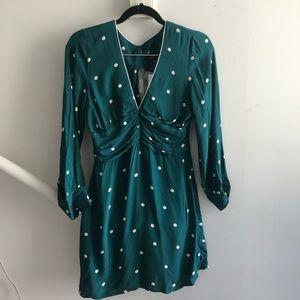 NWT Top Shop Green Polka Dot Summer Dress
